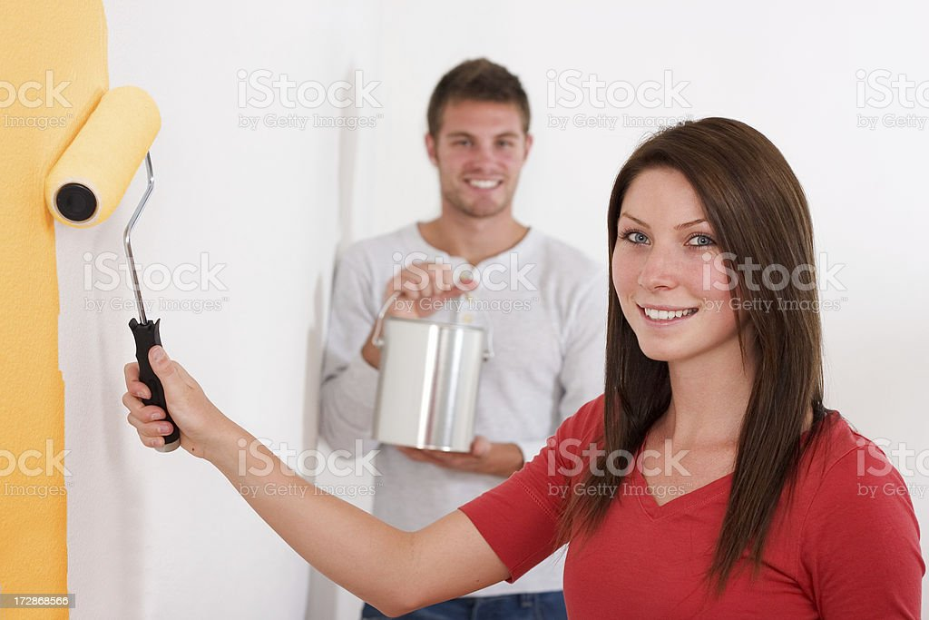 Painting Couple royalty-free stock photo