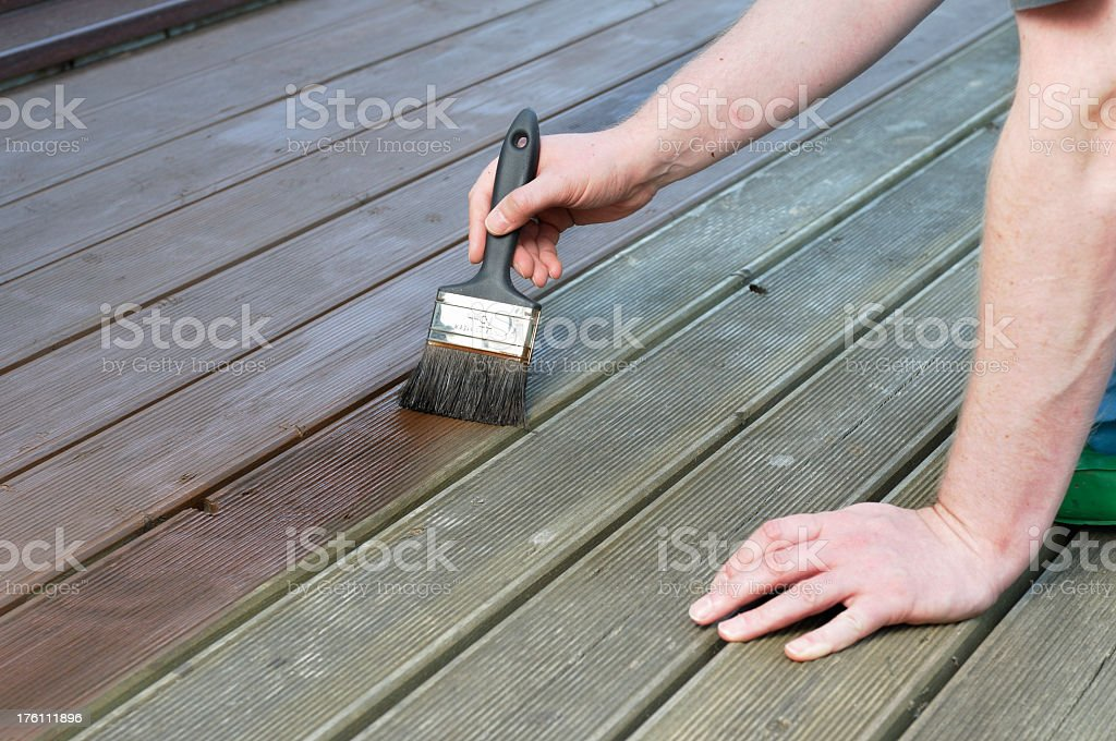 Painting Decking royalty-free stock photo