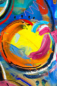 Painting detail expressistic fruit