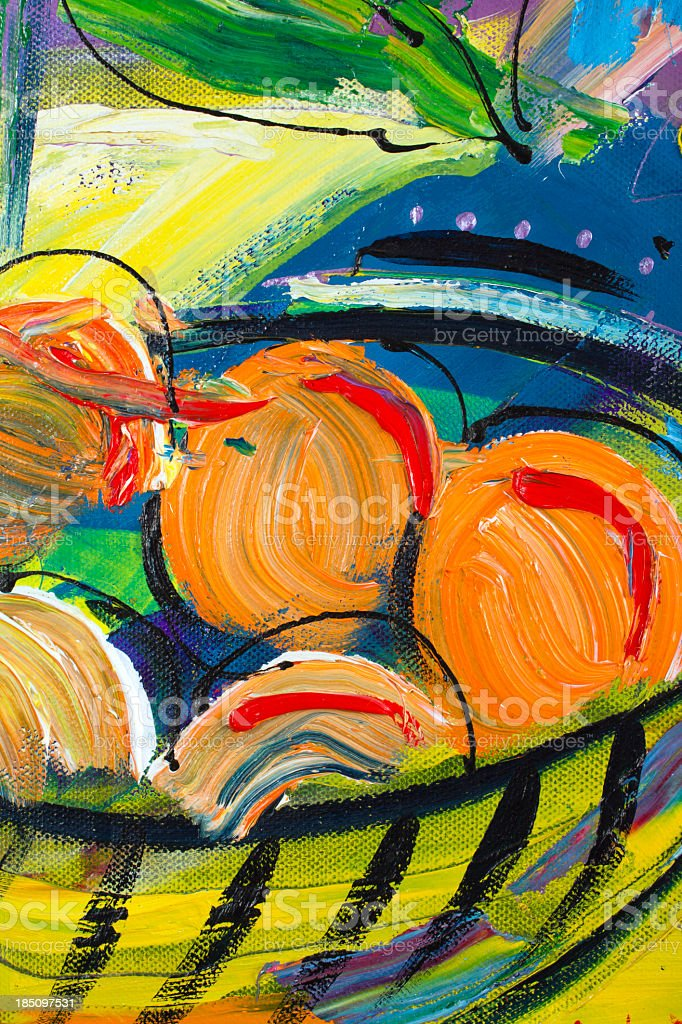 Painting detail royalty-free stock photo