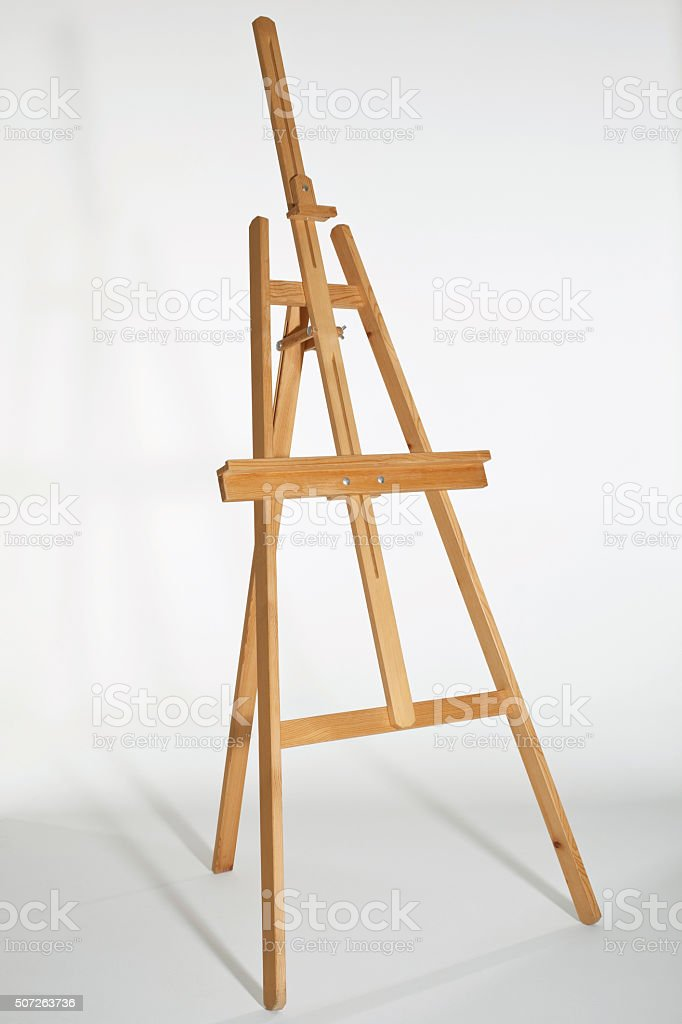Painting easel stock photo