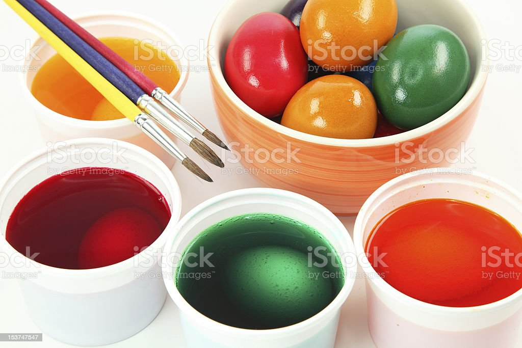 Painting easter egg stock photo