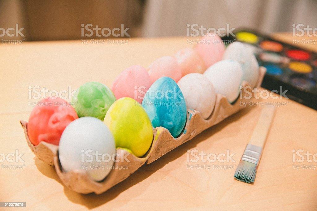 Painting Eggs stock photo