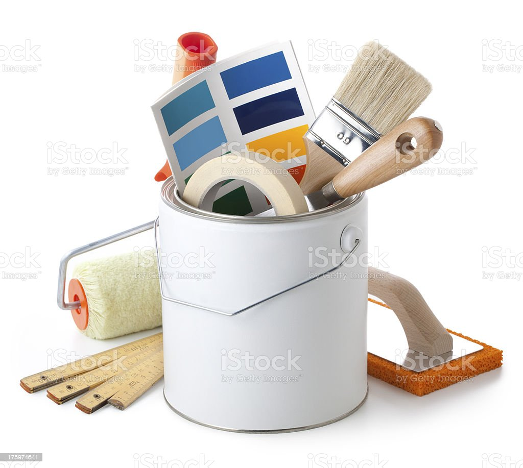 Painting equipment stock photo