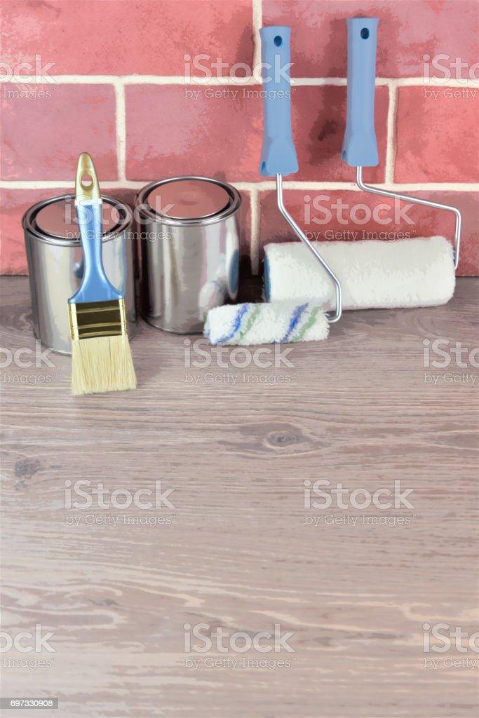 Painting equipment stock photo