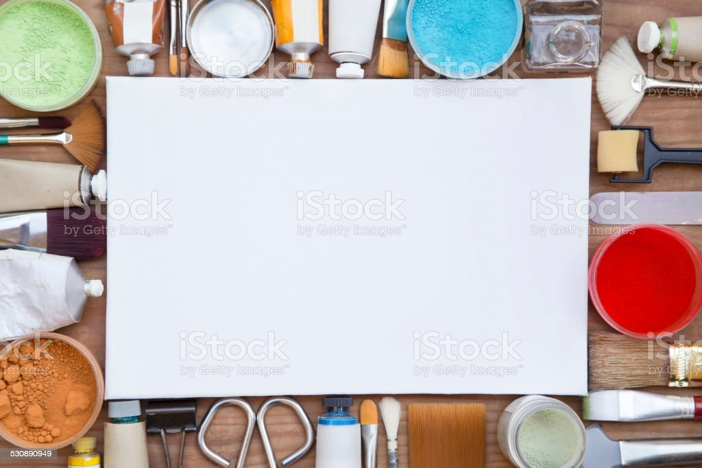 Painting equipments stock photo