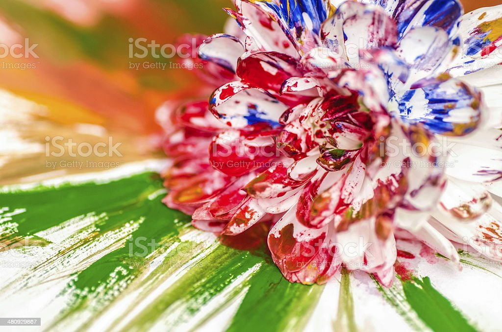 Painting Flower royalty-free stock photo