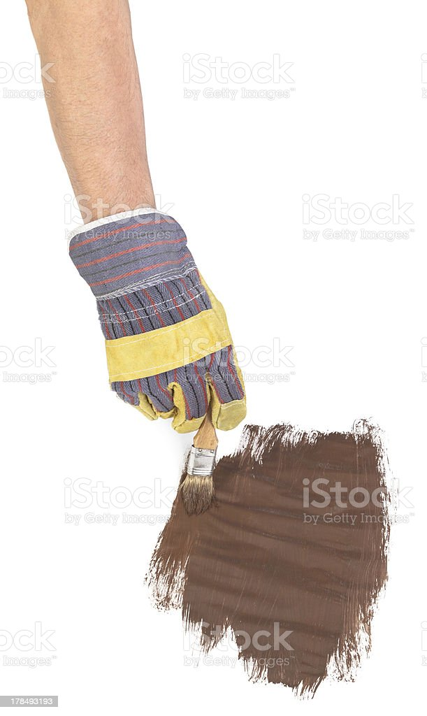 painting hand royalty-free stock photo