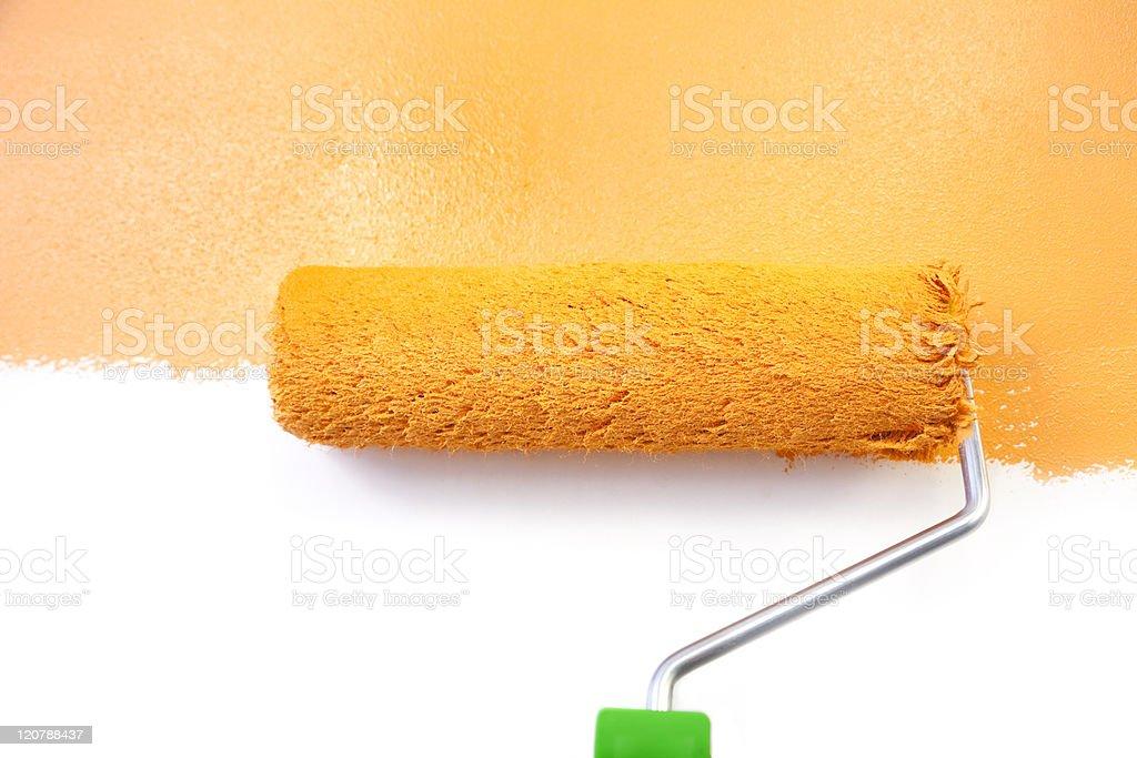 Painting - Home Improvement / Orange / isolated on white background royalty-free stock photo