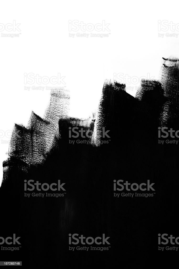 Painting in black royalty-free stock photo