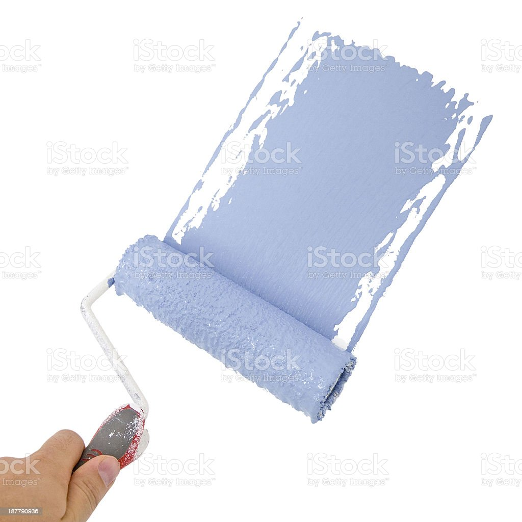 Painting in blue stock photo