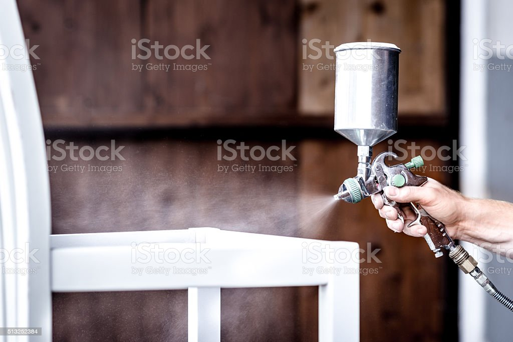 Painting in white stock photo