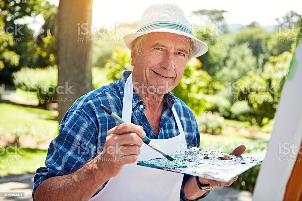 Painting is an expression of self stock photo
