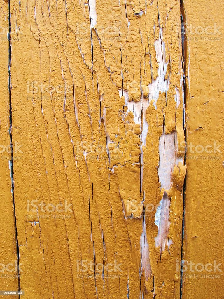 painting is bursting from wood stock photo