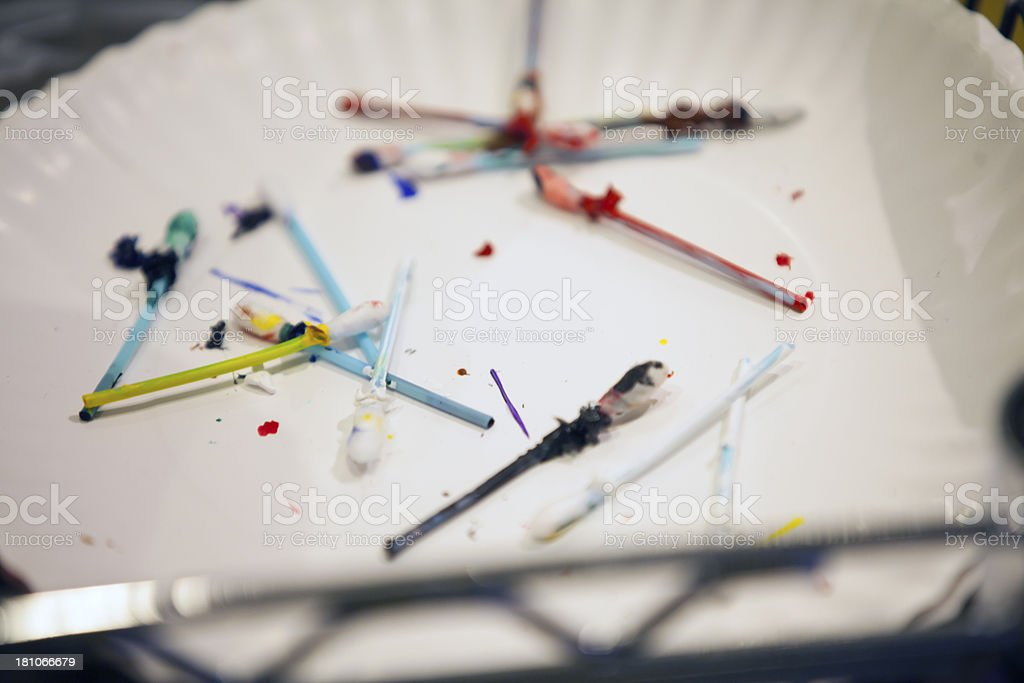 painting mess royalty-free stock photo