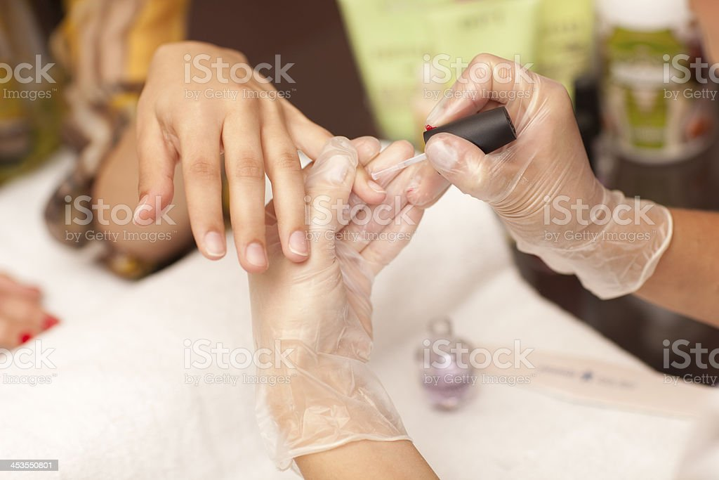 Painting nails royalty-free stock photo