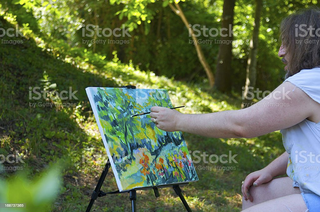 Painting nature royalty-free stock photo