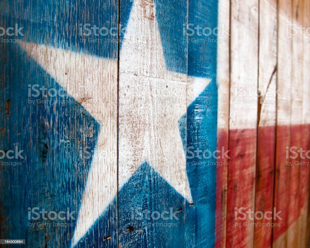 A painting of the Texas flag on wood royalty-free stock photo