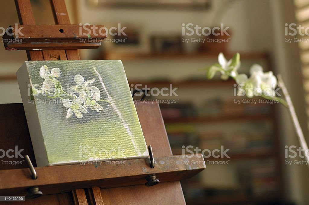 Painting on easel royalty-free stock photo