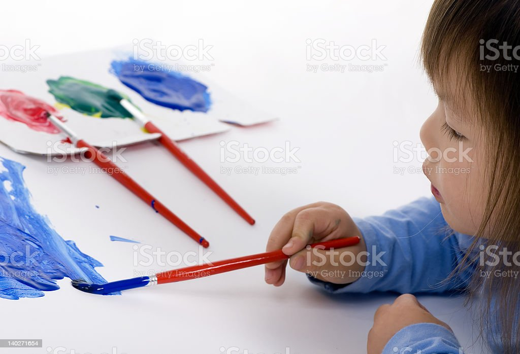 Painting on the Floor 3 royalty-free stock photo