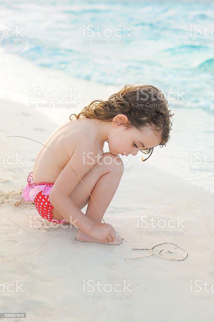 Peinture au sable photo libre de droits