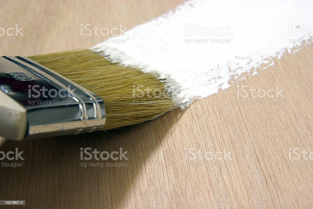 Painting on wood royalty-free stock photo