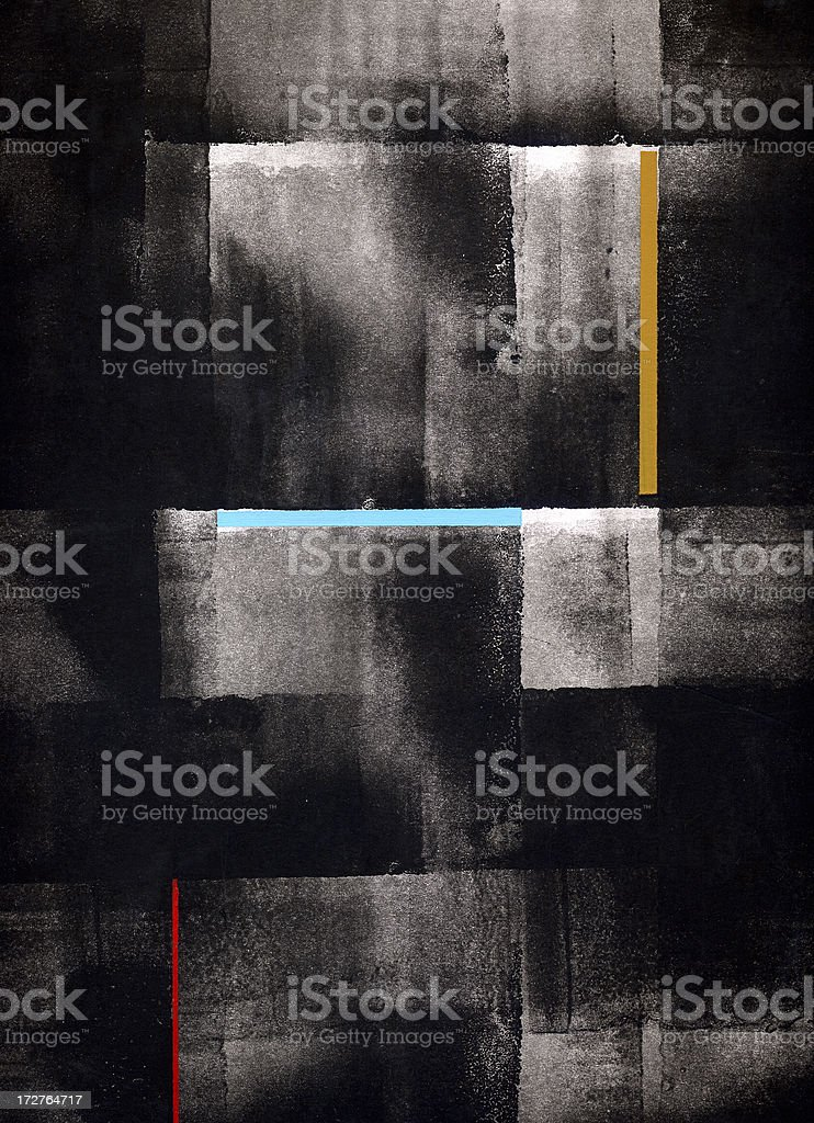 Painting P royalty-free stock photo