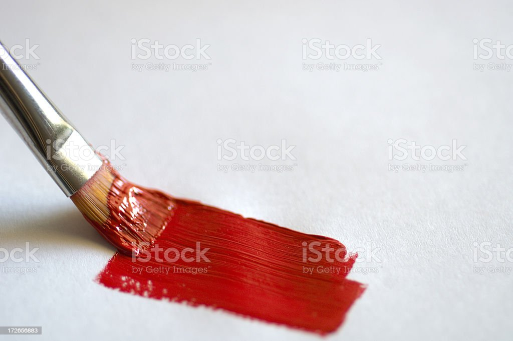 Painting Red 2 royalty-free stock photo