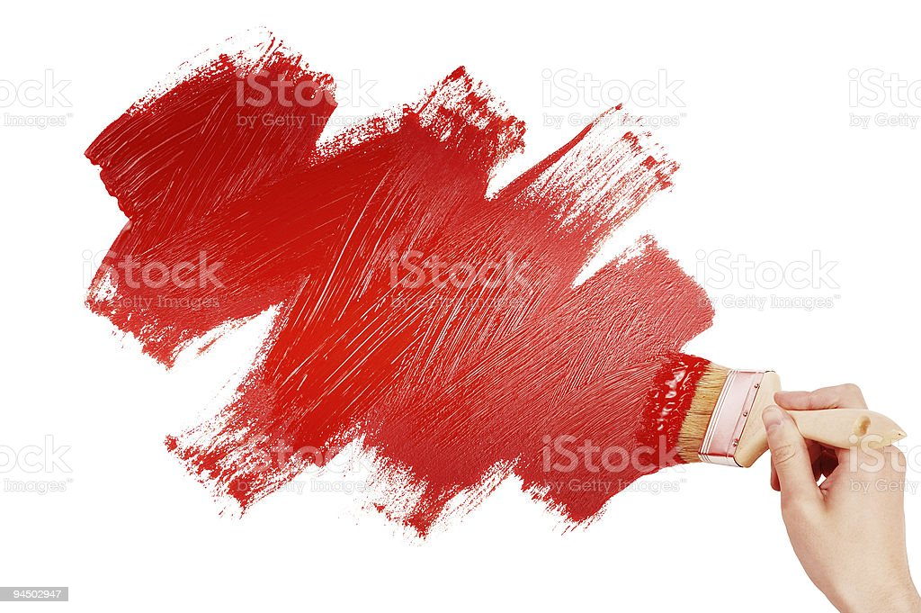 Painting red shape royalty-free stock photo