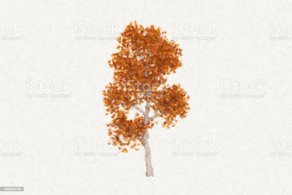 Painting style a tree stock photo