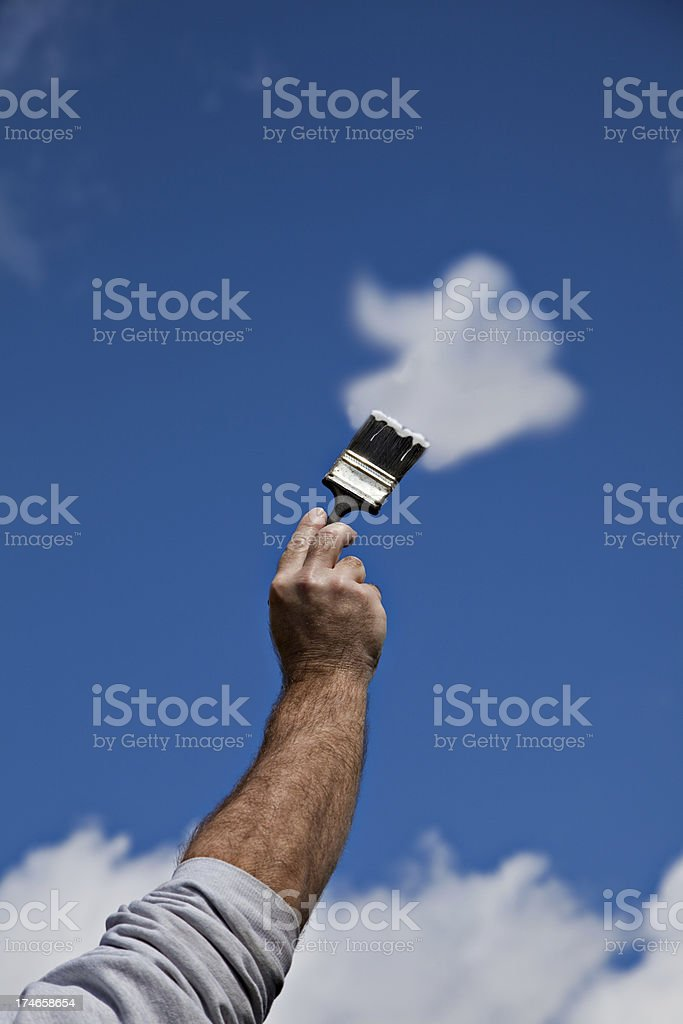 Painting The Clouds royalty-free stock photo