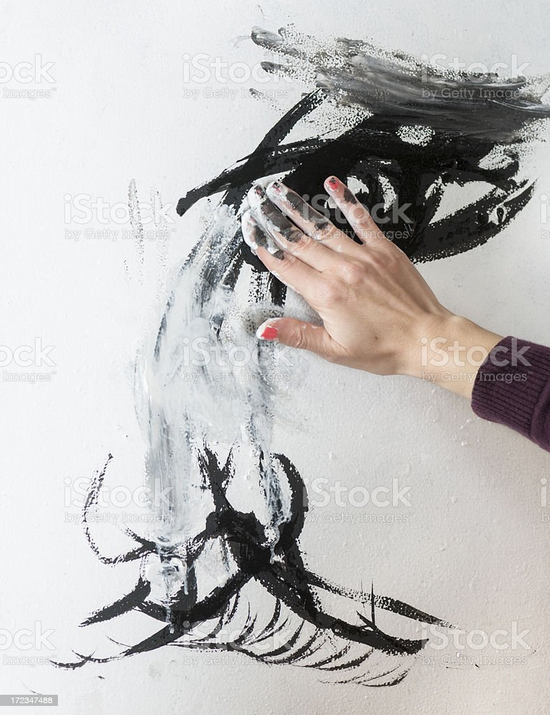 Painting the Eye royalty-free stock photo
