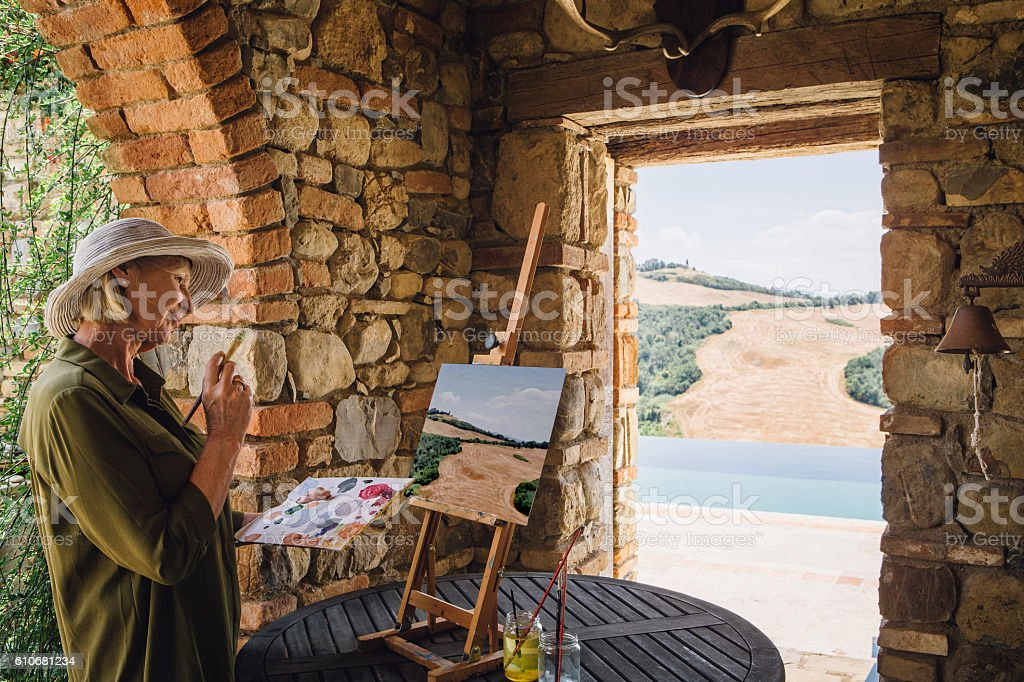 Painting the Landscape stock photo