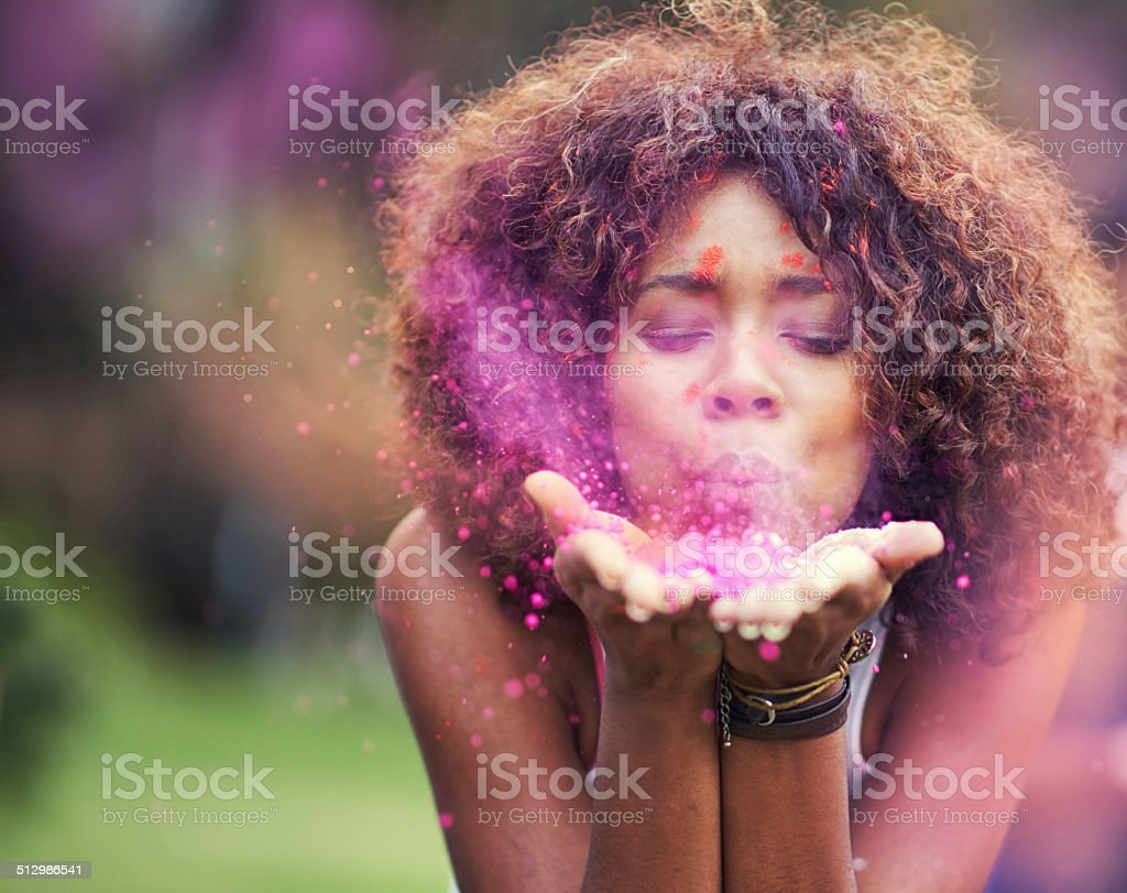 Painting the world pink stock photo