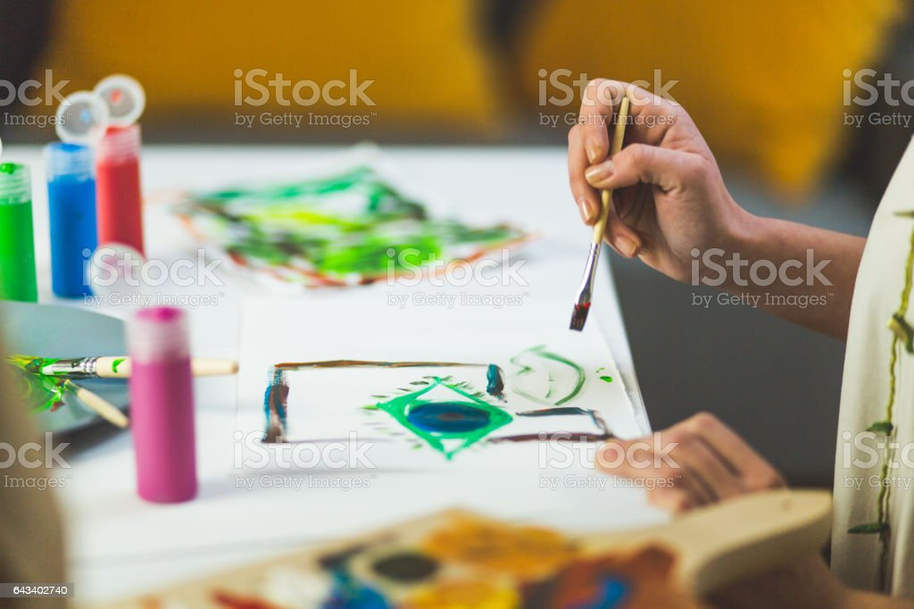 Painting time stock photo