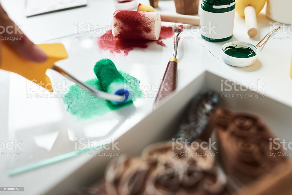 Painting tools for creativity stock photo