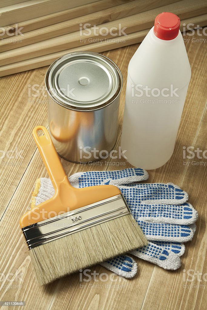 Painting tools stock photo