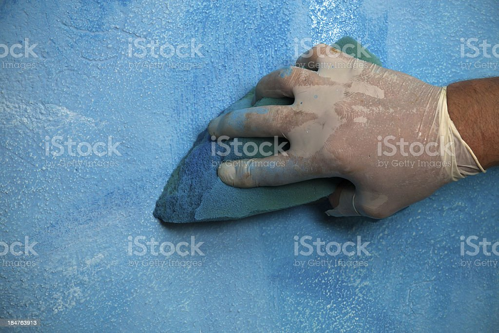 Painting using sponge - artistic effects stock photo