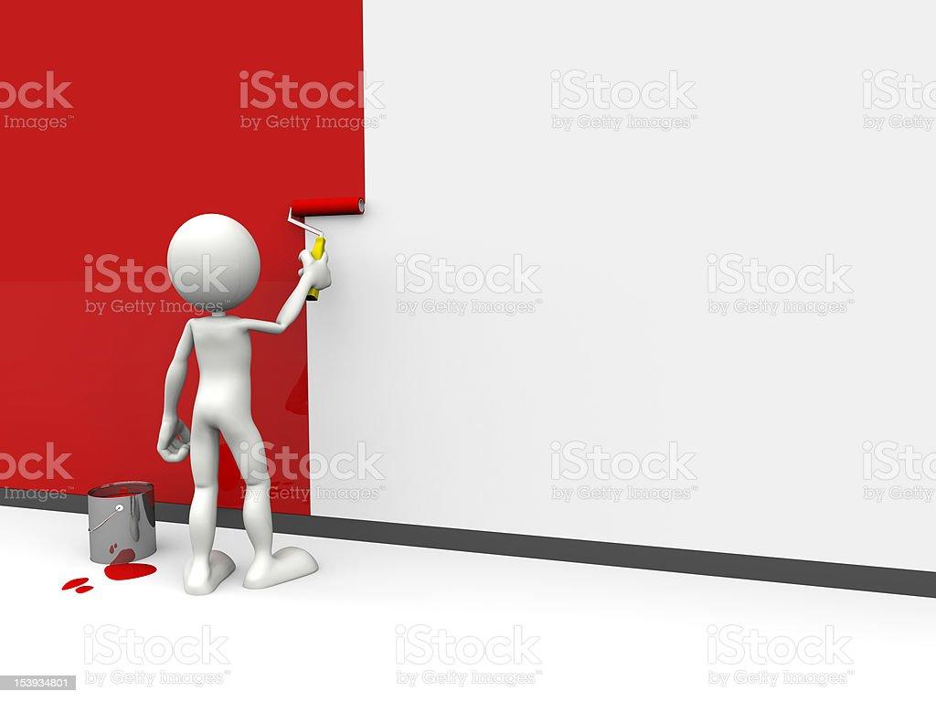 Pintura de pared foto de stock libre de derechos