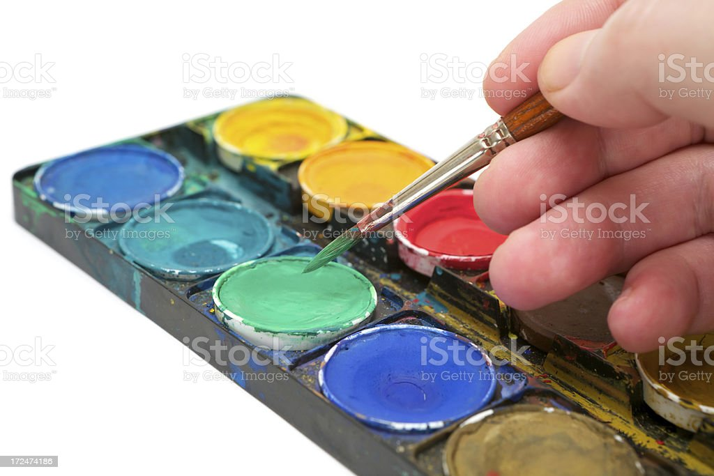 Painting with Watercolors royalty-free stock photo