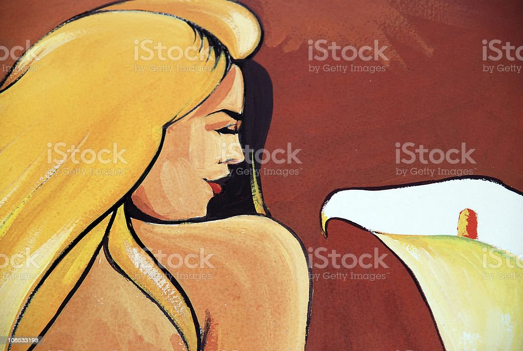 painting woman royalty-free stock photo