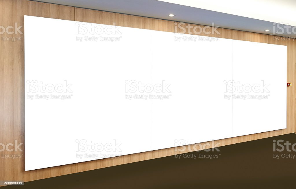 Paintings inside a gallery stock photo
