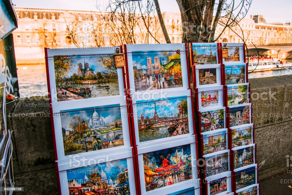 Paintings of Paris for sale stock photo