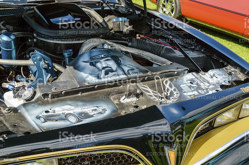 Paintings on Trans am. stock photo