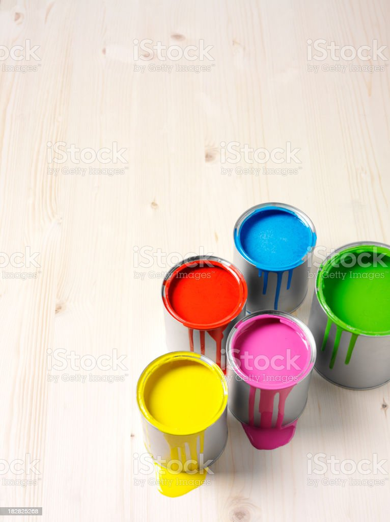 Paints and Copy Space stock photo