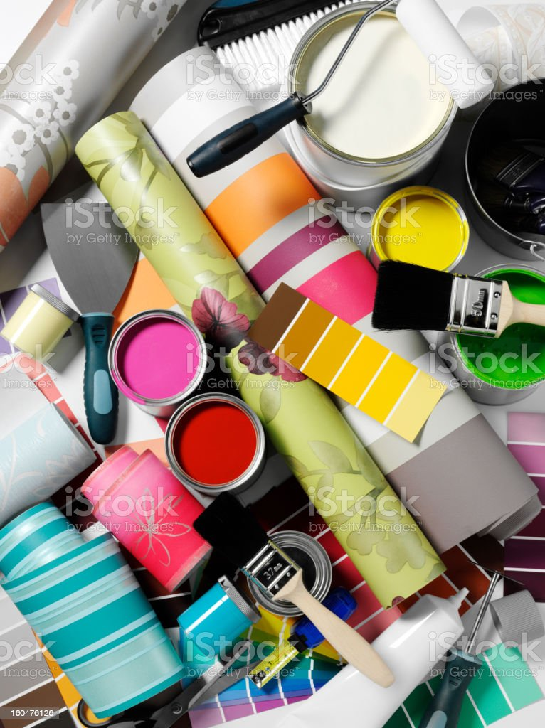 Paints and Home Decorating stock photo