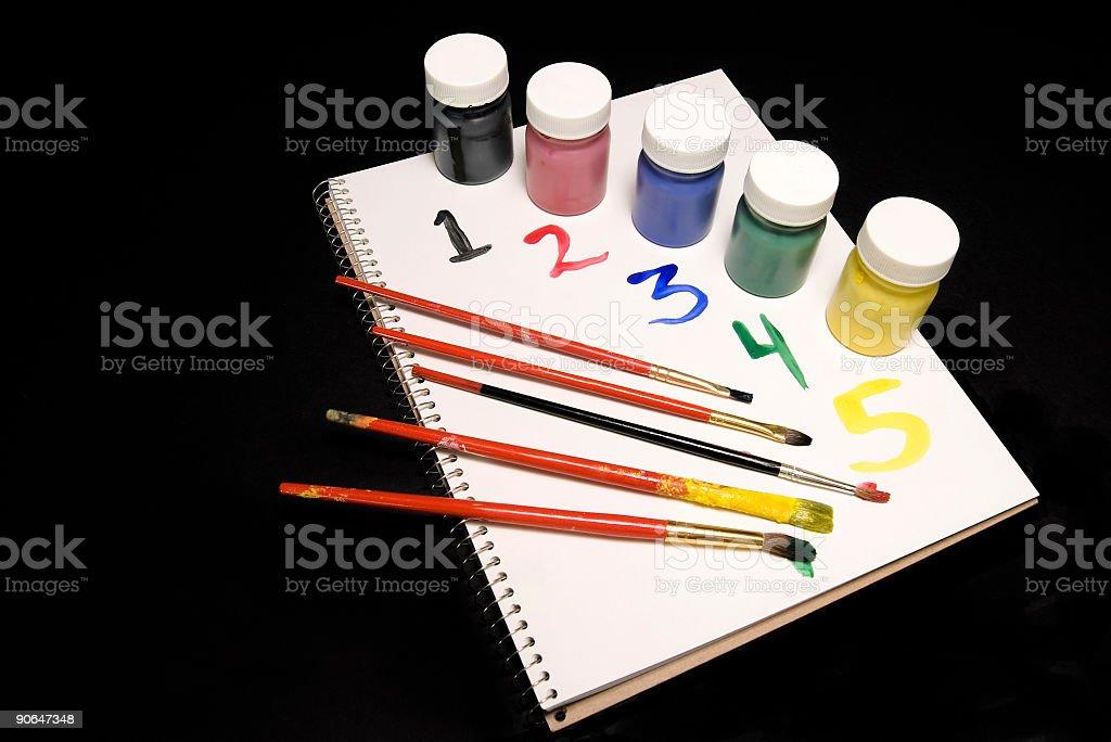 Farby, numery zbiór zdjęć royalty-free
