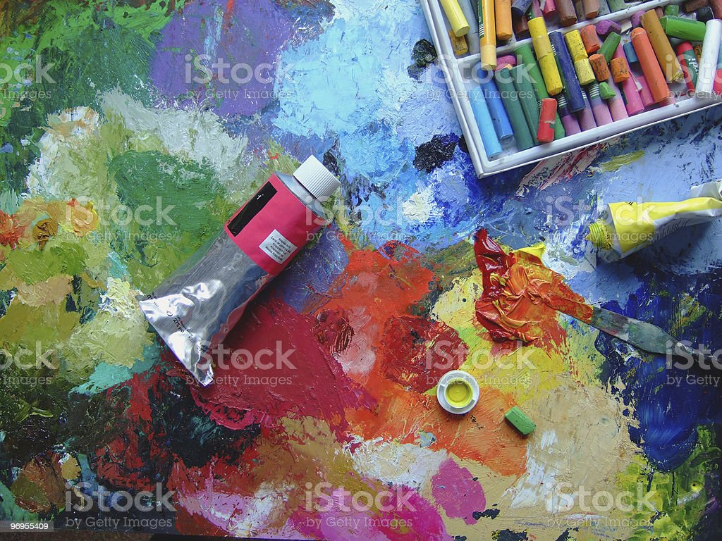 Paints royalty-free stock photo