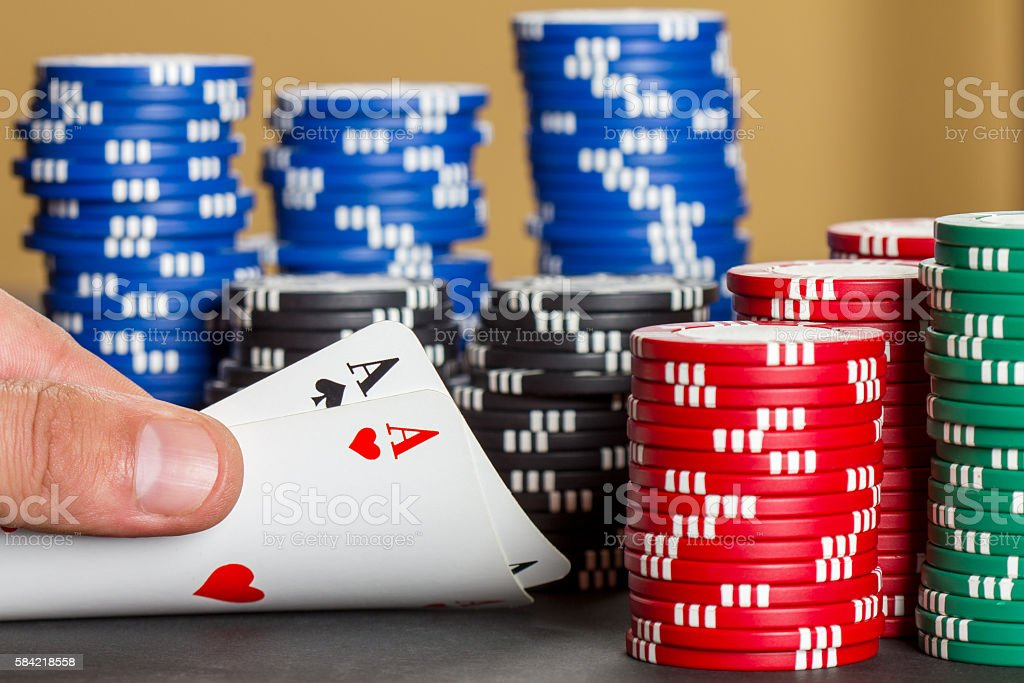 Pair of aces stock photo
