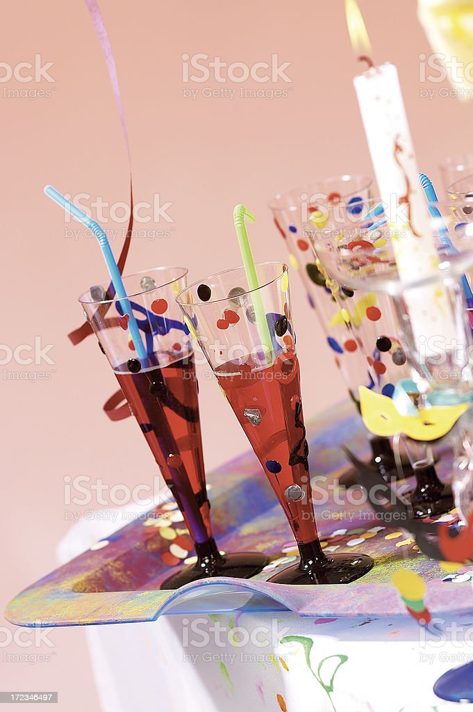 pair of aperitif flute royalty-free stock photo
